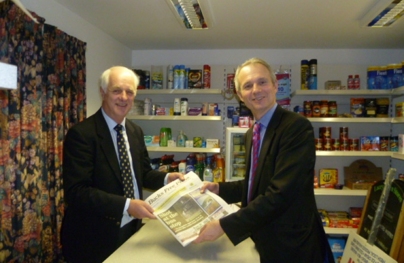 David Lidington MP at Lacey Green Village Shop